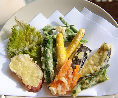 Tempura de verduras de la página Just Hungry.